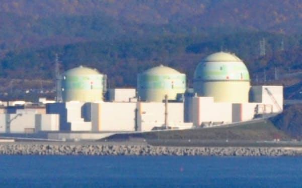 北電の泊原子力発電所(泊村)