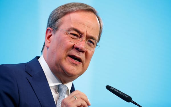 CDU・CSUを率いるラシェット氏が次期首相の最右翼に=ロイター