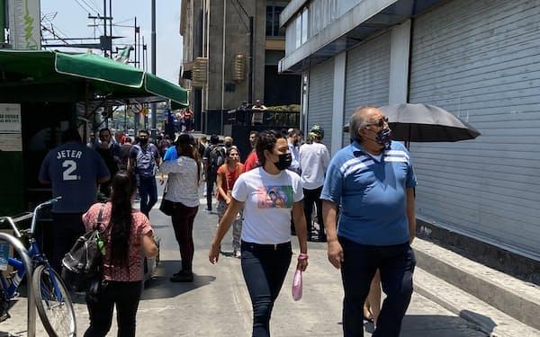 メキシコではインフレへの警戒が広がっている(メキシコシティ中心部)