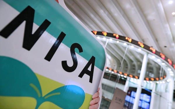 東証にあるNISAの案内板