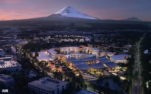 トヨタ自動車が静岡県裾野市で計画する次世代技術の実験都市「ウーブン・シティ」のイメージ