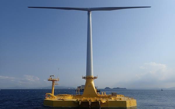 丸紅は北九州や福島の浮体式洋上風力発電の実証事業で培った知見を生かす(新エネルギー・産業技術総合開発機構提供)
