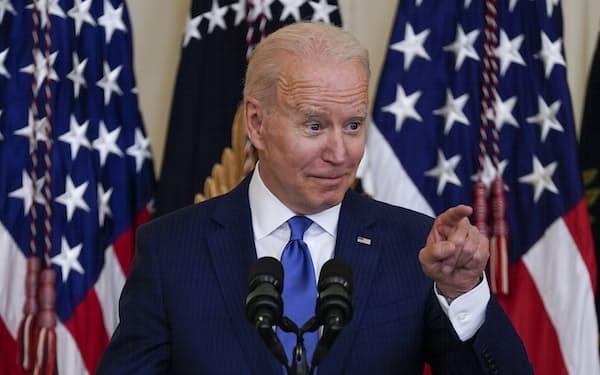 バイデン米大統領は全米で相次ぐ投票制限法を批判してきた=AP