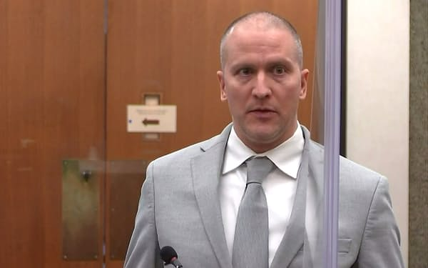 Former Minneapolis police officer Derek Chauvin addresses his sentencing hearing and the judge as he awaits his sentence after being convicted of murder in the death of George Floyd in Minneapolis, Minnesota, U.S. June 25, 2021 in a still image from video. Pool via REUTERS