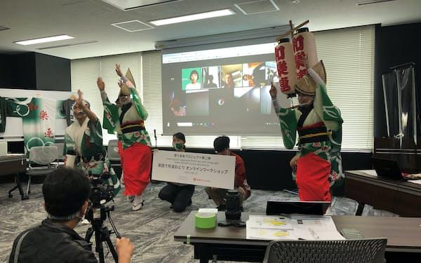 オマツリジャパンとフェイスブックは東京・高円寺の阿波踊りと海外のファンをネットでつなぐイベントを開催(東京都新宿区)