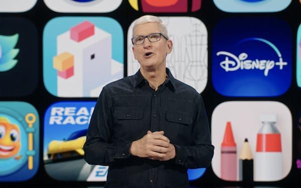 WWDCの基調講演に登壇したクックCEO