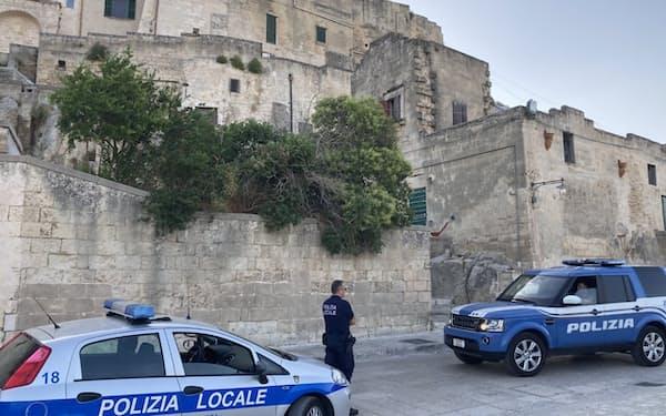 イタリア南部マテーラは厳重な警備体制が敷かれた(28日)