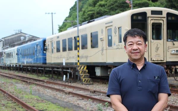 くま川鉄道の永江社長(熊本県人吉市)