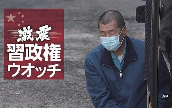 香港の刑事施設に収監される黎智英氏(2020年12月3日)=AP