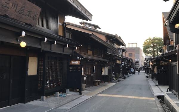 コロナ禍で観光客が激減した(岐阜県高山市)