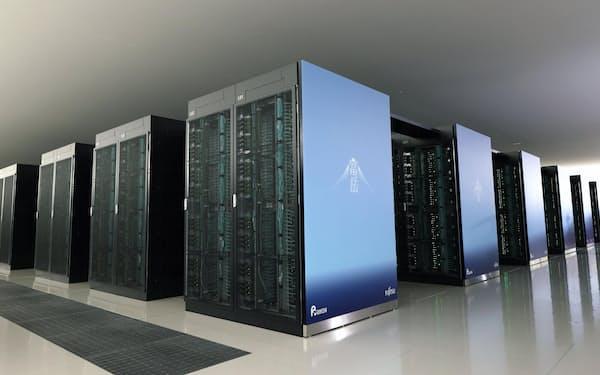 スーパーコンピューター「富岳」=神戸市の理化学研究所計算科学研究センター