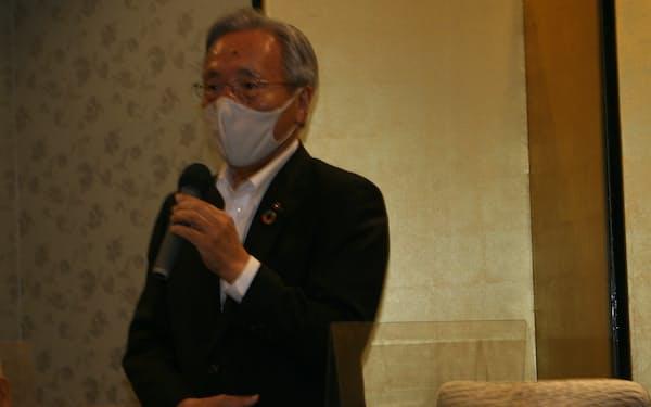 鳥取商工会議所副会頭に就任した石丸文男氏