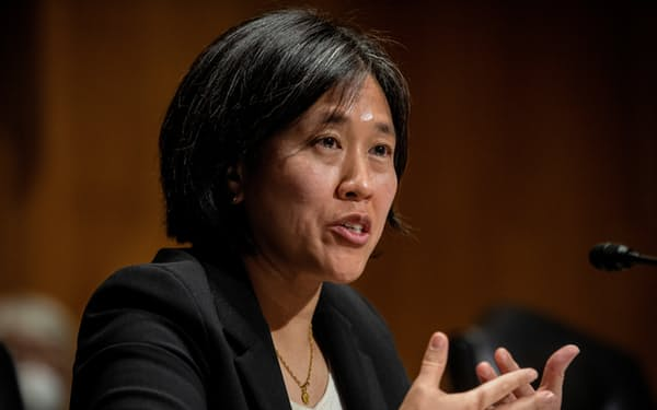 米通商代表部(USTR)のタイ代表。米国は台湾との経済協議の場に5年ぶりに戻ってきた=ロイター