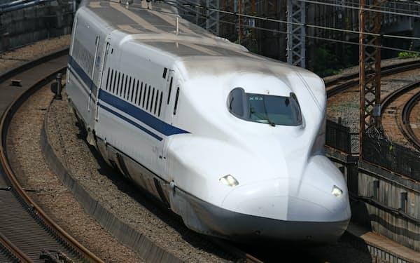 東海道新幹線を走るN700系Aタイプ。全車両にセミアクティブサスペンションを装備する。