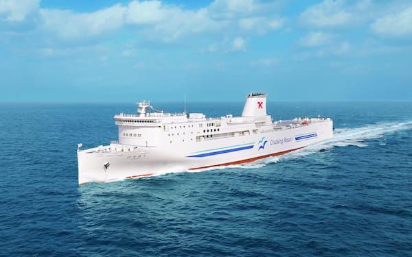 新造船2隻を使用して、横須賀・新門司間を運航する