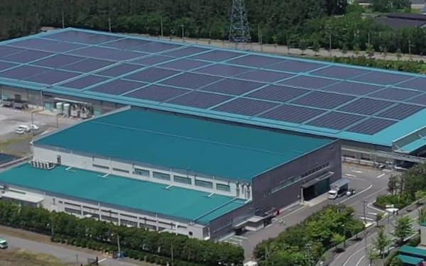 花王は酒田工場に自家消費用の太陽光発電設備を導入した(山形県酒田市)