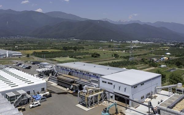木質バイオマス発電から出る熱とCO2をトマト栽培に利用する