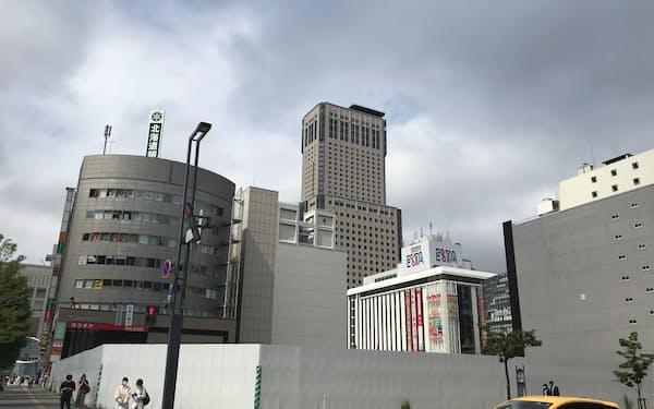 ビル建設予定地は札幌駅すぐそばの好立地