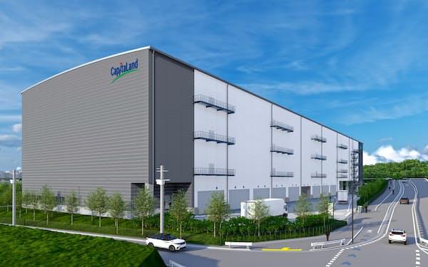 2023年9月までの完成を見込む大阪府茨木市の物流施設の完成イメージ