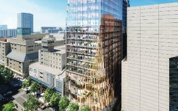 福岡市の北別館跡地再開発の完成イメージ