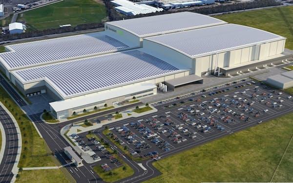 エンビジョンAESCグループは英国で新たな電池工場を建設し、日産の新型EV向けに電池を供給する(写真は新工場のイメージ)
