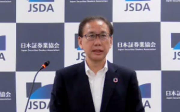 日本証券業協会の会長に就任した森田敏夫氏