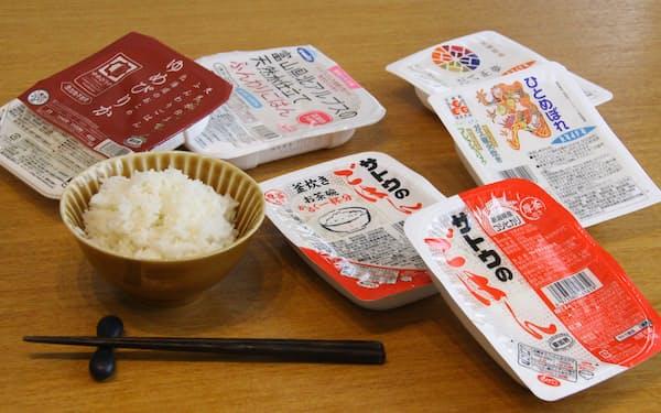 パックご飯は種類も増加し、日々の食卓を支える存在になっている
