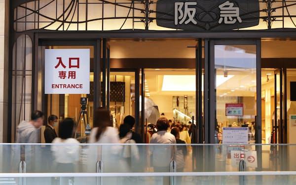 阪急うめだ本店の売上高はコロナ前の19年6月の8割強の水準まで回復した