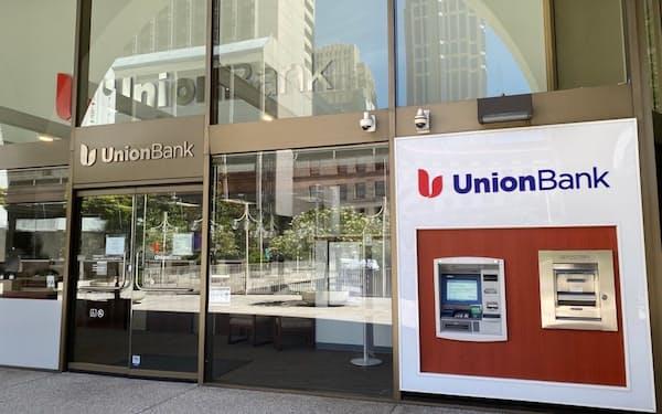 米西海岸を地盤とする地銀、MUFGユニオンバンクの店舗(6月、シアトル)