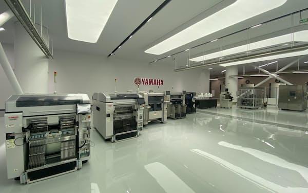 中国の産機販売子会社の新社屋はショールームを備える(中国・蘇州市)