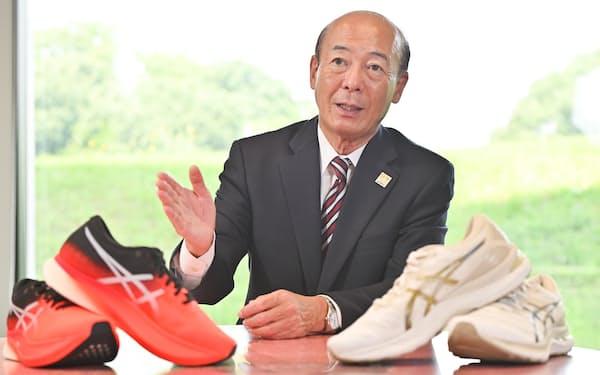 アシックスの広田康人社長。社長直轄プロジェクトで開発のスピードを上げた