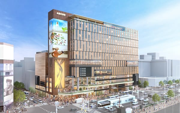 新複合施設は高さ78メートルで上層階にはホテルが入る(イメージ)