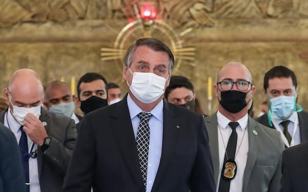 ブラジルのボルソナロ大統領(1日、ブラジリア)=ブラジル大統領府提供