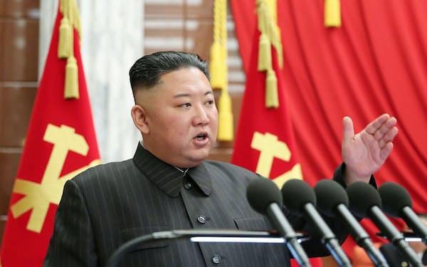 金正恩氏は6月29日の党会議で幹部を叱責、更迭した=朝鮮通信・共同