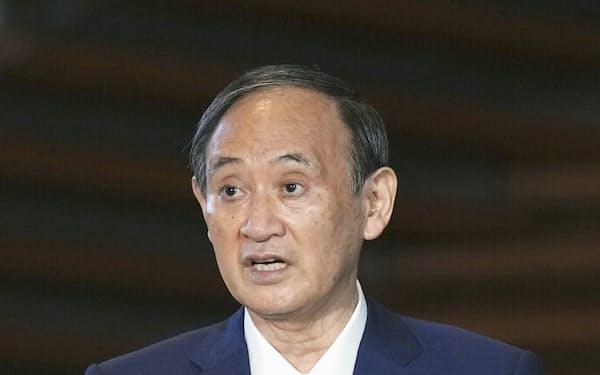 菅義偉首相(3日)=共同