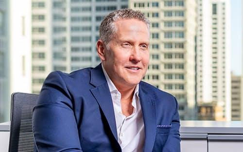 インタビューに応じた米アップアニーのテッド・クランツ最高経営責任者(CEO)