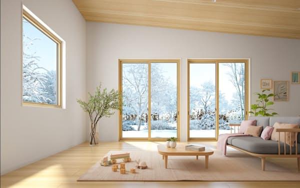 樹脂窓は断熱性に優れ、需要が増えている(製品のイメージ)