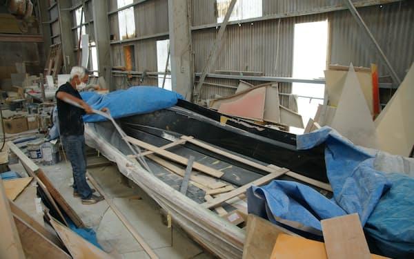 漁業が盛んな室戸で漁船を修理するのは宮崎造船所だけ(高知県室戸市)