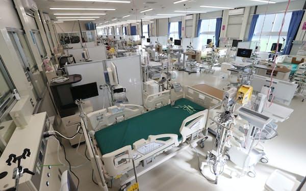 報道公開された「大阪コロナ重症センター」(2020年12月、大阪市住吉区)