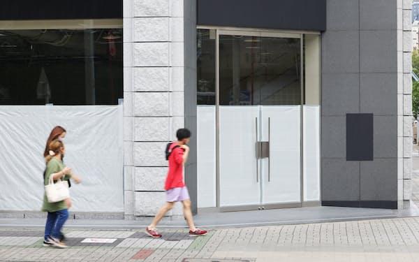 テナントが埋まらない名古屋証券取引所ビル(5日、名古屋市中区)