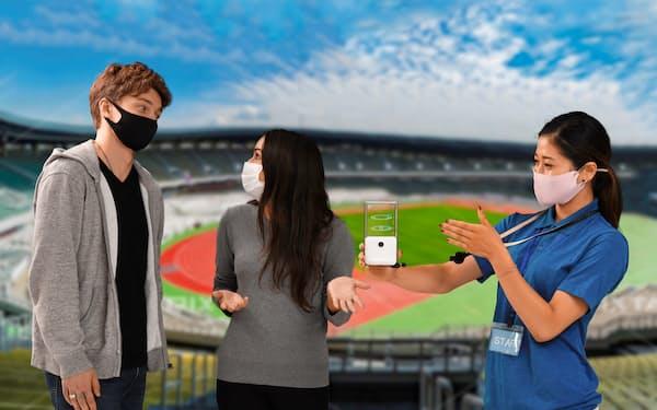 NTTは東京五輪・パラリンピックで席案内の通信技術を提供する