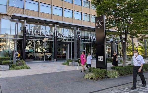 メルセデス・ベンツがブランド別で首位だった(東京都江東区の販売店)