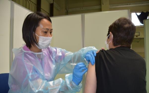 千葉市が市内の公共施設で進める集団接種