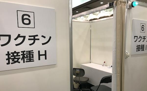 ワクチン供給量が札幌市の想定を下回っている(集団接種会場の札幌パークホテル)