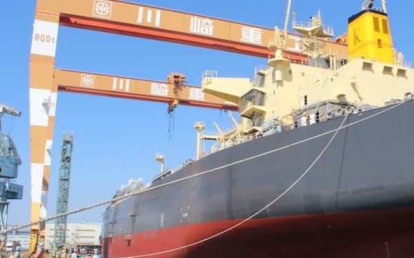 大型船の建造能力がある坂出工場(香川県坂出市)