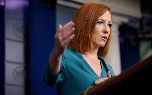 6日、サキ米大統領報道官はロシア政府にサイバー犯罪集団を取り締まるよう促した(ホワイトハウス)=ロイター