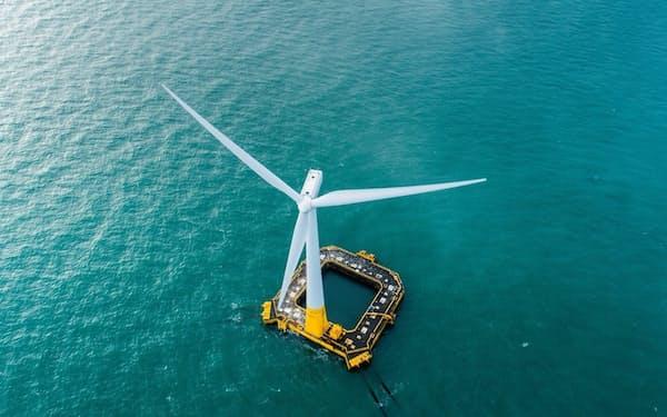 BWイデオルの技術を使ったフランスの洋上風力発電