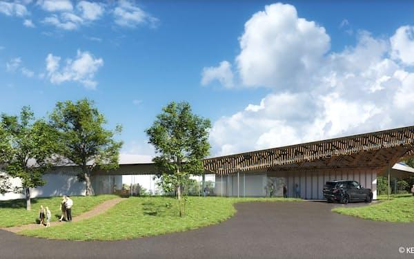 開業する複合型リゾート施設の外観(イメージ)