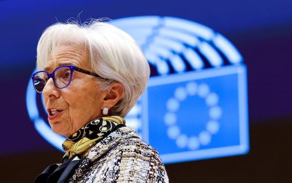 欧州中央銀行(ECB)のラガルド総裁(=ロイター)
