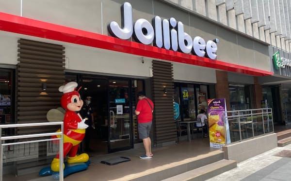 REIT上場予定の企業と提携するジョリビーの店舗(8日、マニラ)
